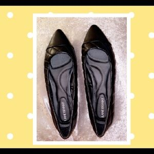 Quilted black flats size11